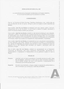 Res Duelo Juan De Los Santos,RD 001